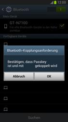 Samsung Galaxy Note II - Bluetooth - Verbinden von Geräten - Schritt 7