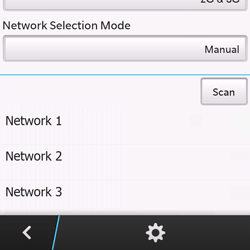 BlackBerry Q10 - Network - Manual network selection - Step 9