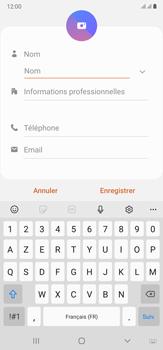 Samsung Galaxy Note20 Ultra 5G - Contact, Appels, SMS/MMS - Ajouter un contact - Étape 7