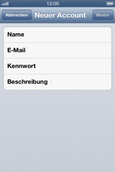 Apple iPhone 4 - E-Mail - Manuelle Konfiguration - Schritt 7