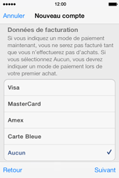 Apple iPhone 4 S iOS 7 - Applications - Créer un compte - Étape 18