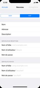 Apple iPhone X - E-mail - configuration manuelle - Étape 11