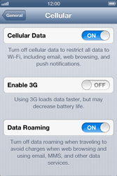 Apple iPhone 4S - Internet and data roaming - Disabling data roaming - Step 5