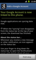 Samsung Galaxy S Advance - Applications - Setting up the application store - Step 15
