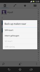 Sony Xperia Z 4G (C6603) - Contacten en data - Contacten kopiëren van toestel naar SIM - Stap 6