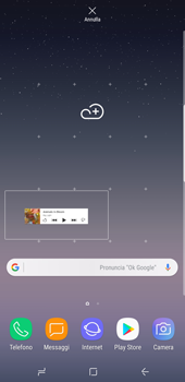 Samsung Galaxy S8 Plus - Android Oreo - Operazioni iniziali - Installazione di widget e applicazioni nella schermata iniziale - Fase 6