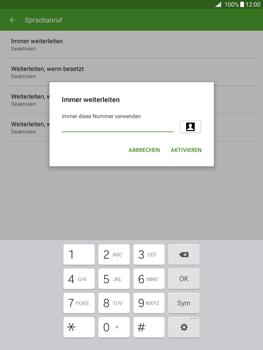 Samsung Galaxy Tab A 9.7 - Anrufe - Rufumleitungen setzen und löschen - 11 / 13