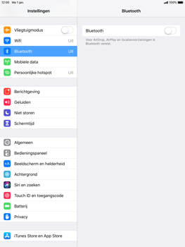 Apple iPad Mini 3 - iOS 12 - Bluetooth - koppelen met ander apparaat - Stap 6