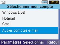 Samsung S3570 Chat 357 - E-mail - Configurer l