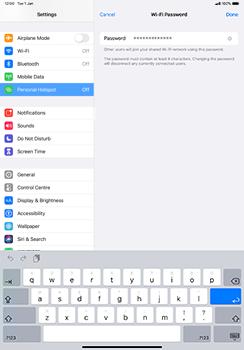 Apple iPad Pro 11 (2018) - iPadOS 13 - WiFi - How to enable WiFi hotspot - Step 5