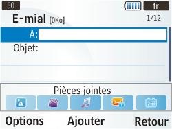 Samsung S3350 Chat 335 - E-mail - envoyer un e-mail - Étape 4