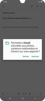 Samsung Galaxy A70 - E-mail - envoyer un e-mail - Étape 13