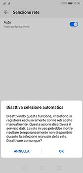 Huawei P20 - Android Pie - Rete - Selezione manuale della rete - Fase 7
