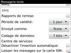 BlackBerry 9360 Curve - SMS - Configuration manuelle - Étape 5