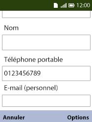 Alcatel 3088X - Contact, Appels, SMS/MMS - Ajouter un contact - Étape 14