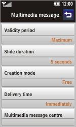 LG GC900 Viewty Smart - MMS - Automatic configuration - Step 8