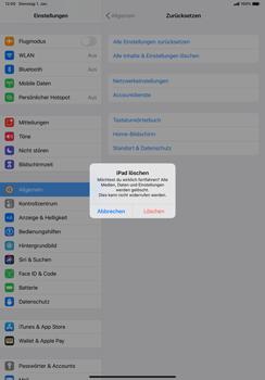 Apple iPad Pro 11 (2018) - iPadOS 13 - Gerät - Zurücksetzen auf die Werkseinstellungen - Schritt 7