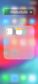 Apple iPhone X - iOS 12 - Operazioni iniziali - Personalizzazione della schermata iniziale - Fase 6