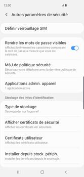 Samsung Galaxy S10 - Sécuriser votre mobile - Personnaliser le code PIN de votre carte SIM - Étape 6