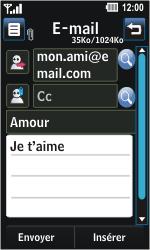 LG GD510 Pop - E-mail - Envoi d