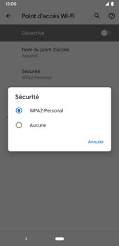 Google Pixel 3a - Internet et connexion - Partager votre connexion en Wi-Fi - Étape 10
