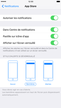 Apple Apple iPhone 6s Plus iOS 10 - iOS features - Personnaliser les notifications - Étape 5