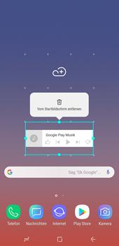 Samsung Galaxy Note9 - Startanleitung - Installieren von Widgets und Apps auf der Startseite - Schritt 9