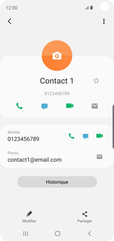 Samsung Galaxy S10e - Contact, Appels, SMS/MMS - Ajouter un contact - Étape 13