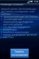 Sony Ericsson Xperia X8 - Fehlerbehebung - Handy zurücksetzen - 2 / 2