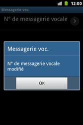 Samsung S7500 Galaxy Ace Plus - Messagerie vocale - Configuration manuelle - Étape 8