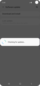 Samsung Galaxy S10 - Software - Installing software updates - Step 7