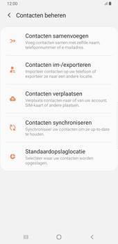 Samsung galaxy-note-8-sm-n950f-android-pie - Contacten en data - Contacten kopiëren van toestel naar SIM - Stap 6