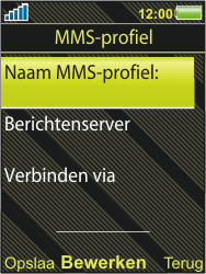 Sony Ericsson W995 - MMS - handmatig instellen - Stap 7