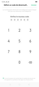 Oppo Reno 2 - Sécuriser votre mobile - Activer le code de verrouillage - Étape 9