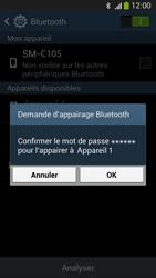 Samsung C105 Galaxy S IV Zoom LTE - Bluetooth - connexion Bluetooth - Étape 9