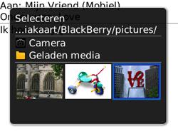 BlackBerry 8520 Curve - MMS - Afbeeldingen verzenden - Stap 10
