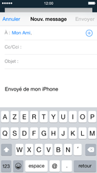 Apple iPhone 5 iOS 8 - E-mail - envoyer un e-mail - Étape 5