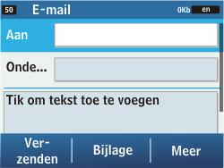 Samsung C3500 Chat 350 - E-mail - Hoe te versturen - Stap 5