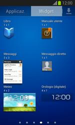 Samsung Galaxy Trend Lite - Operazioni iniziali - Installazione di widget e applicazioni nella schermata iniziale - Fase 7