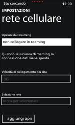Nokia Lumia 800 / Lumia 900 - Rete - Selezione manuale della rete - Fase 7