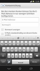 Sony Xperia Z - E-Mail - Konto einrichten - Schritt 5