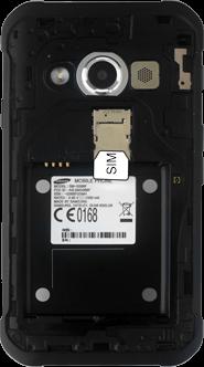 Samsung G389 Galaxy Xcover 3 VE - SIM-Karte - Einlegen - Schritt 3