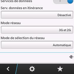 BlackBerry Q10 - Réseau - Sélection manuelle du réseau - Étape 6