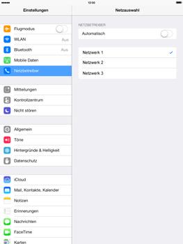 Apple iPad mini 2 - Netzwerk - Manuelle Netzwerkwahl - Schritt 7