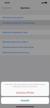 Apple iPhone XS Max - Dispositivo - Ripristino delle impostazioni originali - Fase 7