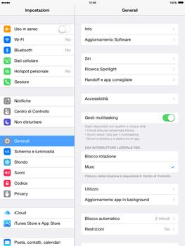 Apple iPad mini - iOS 8 - Rete - Selezione manuale della rete - Fase 3