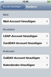 Apple iPhone 3GS - E-Mail - Konto einrichten - Schritt 6