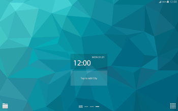 Samsung T805 Galaxy Tab S - Getting started - Installing widgets and applications on your start screen - Step 7