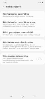 Samsung Galaxy Note 10 Lite - Aller plus loin - Restaurer les paramètres d'usines - Étape 6