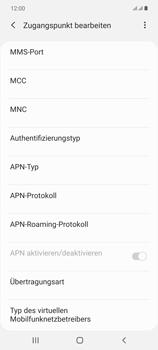 Samsung Galaxy Note 20 5G - Internet und Datenroaming - Manuelle Konfiguration - Schritt 13